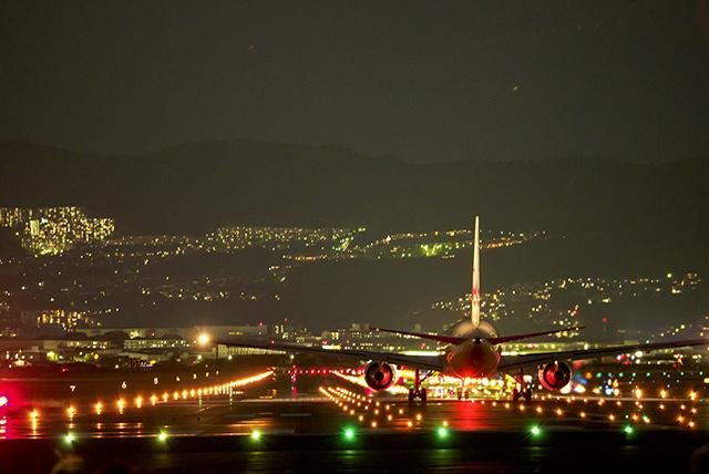 千里川土手 飛行機撮影